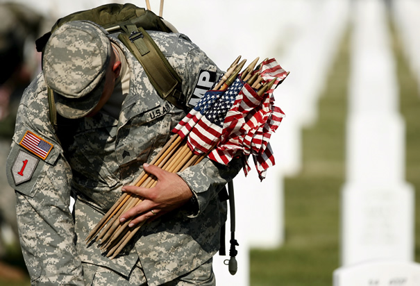 Memorialday-picking-up-flags