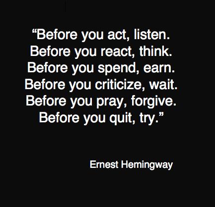Quote hemingway
