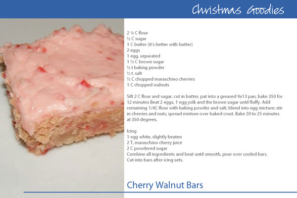 Cherry-Walnut-Bars