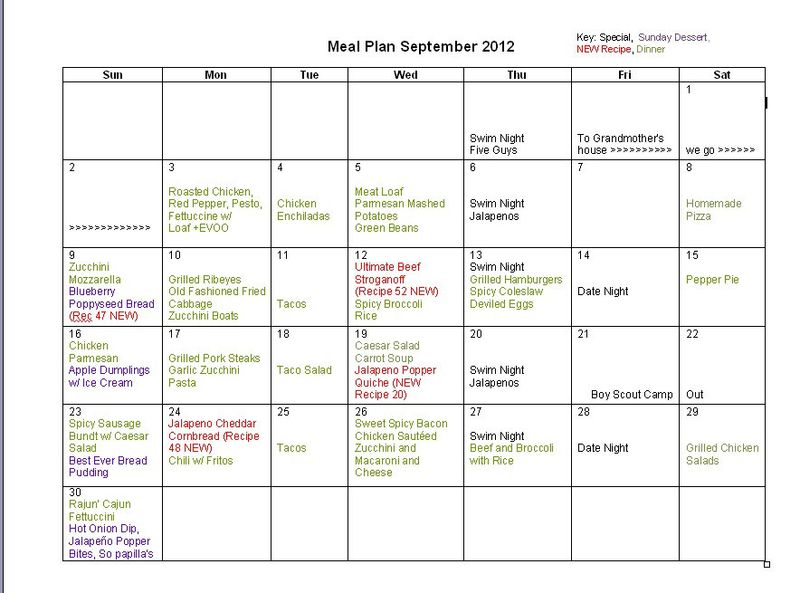 September-Menu-Plan