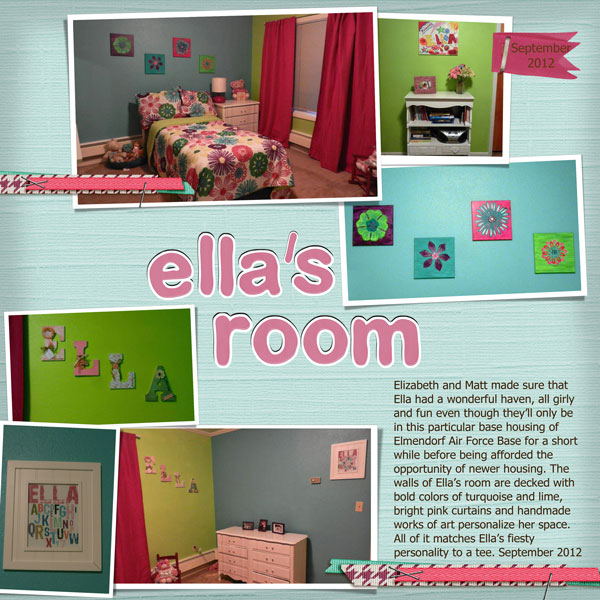 elizabeth finished decorating ella s room in their new home in alaska  the  colors are so bold and bright and fit ella s fiesty personality  love all  the. In the Storm  all about the grandkids l digital pages