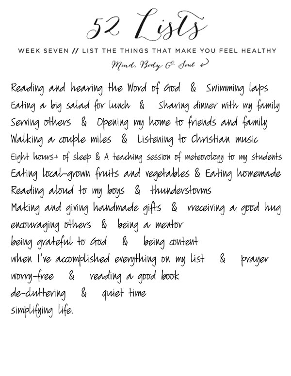 52-Lists-Week-7