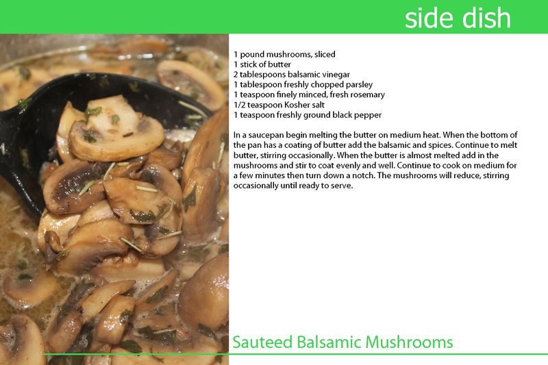 Sauteed Balsamic Mushrooms