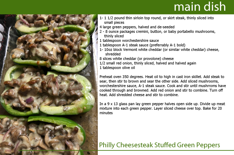 Philly Cheesesteak Stuffed Green Peppers copy
