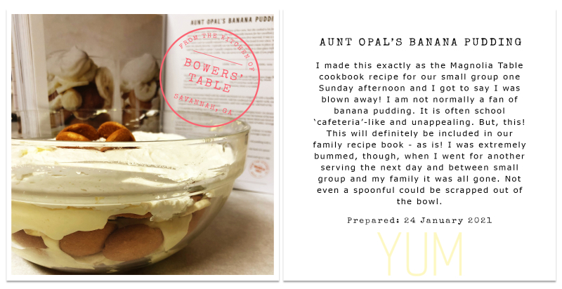 Aunt Opal's Banana Pudding POST