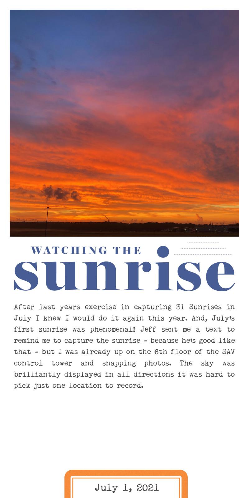 31 Sunrises 1