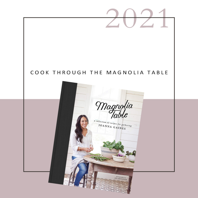 Cook through the magnolia table
