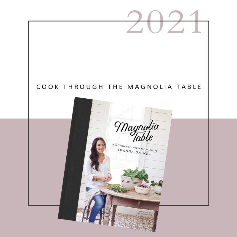 Cook through the magnolia table