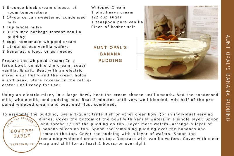 Aunt Opal's Banana Pudding