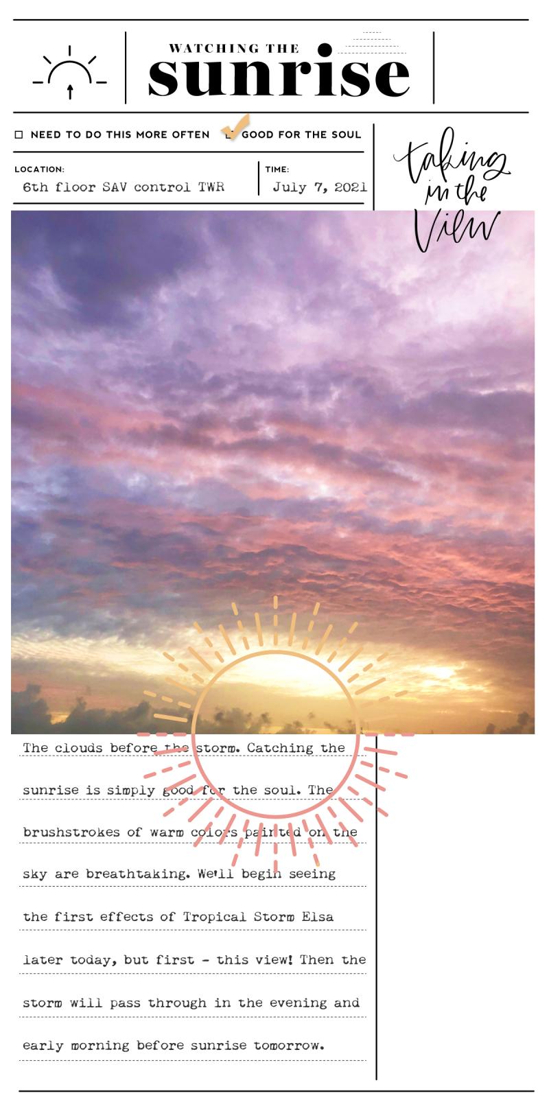 31 Sunrises 7